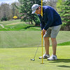 KRISTOPHER RADDER — BRATTLEBORO REFORMER<br /> Bill Stevens, of Bellows Falls, Vt., putts his ball while playing golf at the Brattleboro Country Club on Friday, May 8, 2020.