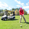 KRISTOPHER RADDER — BRATTLEBORO REFORMER<br /> Dennis Mayotte, of Brattleboro, Vt., hits his ball down the green while playing golf at the Brattleboro Country Club on Friday, May 8, 2020.