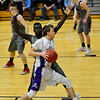 KRISTOPHER RADDER - BRATTLEBORO REFORMER<br /> Brattleboro's Leif Bigelow tries to drive the ball to the rim during a Division 1 boys varsity basketball playoff game against Spaulding at Brattleboro Union High School on Wednesday, March 1, 2017.