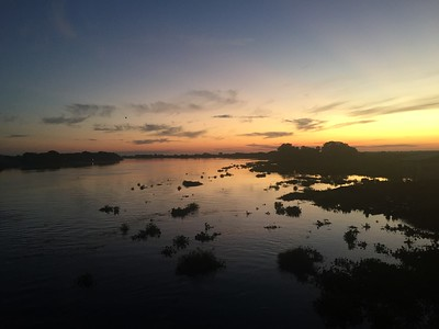 Sunset on the Paraguay river