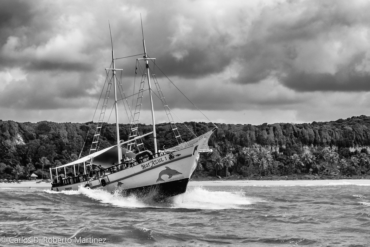 Escuna Boat for Dolphin Watch - Pipa Beach, Rio Grande de Norte State