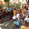 Pelourinho - olodum (African drum troop) & busker band jamming together