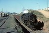 Dona Teresa Cristina Railway 2-10-4 No 305, approaching Tubarao, Brazil, 21 October 1976.  Rolling down grade near the Capivari washing plant, whistle blowing.  Photo by Les Tindall.