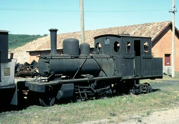 Imbituba Dock Company 2-4-4WT No 7, Imbituba docks, Brazil, 21 October 1976.  Built by Henschel (11367 / 1912) and subsequently preserved.  Photo by Les Tindall.