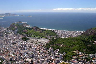 From the Corcovado, Copacabana beach 2004