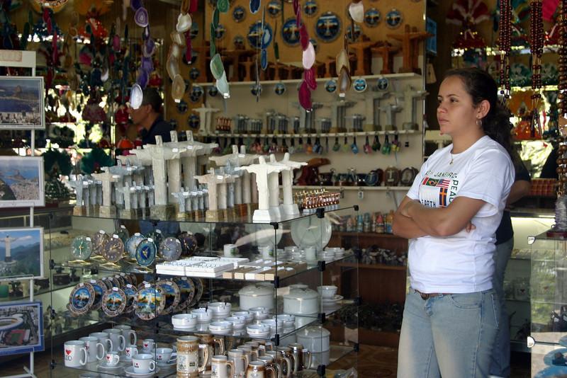 Corcovado shop keeper. 2004
