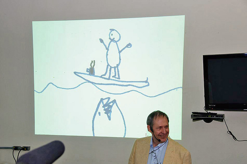My talk started off with this drawing of me by my grandson showing just how much I love my coffee.