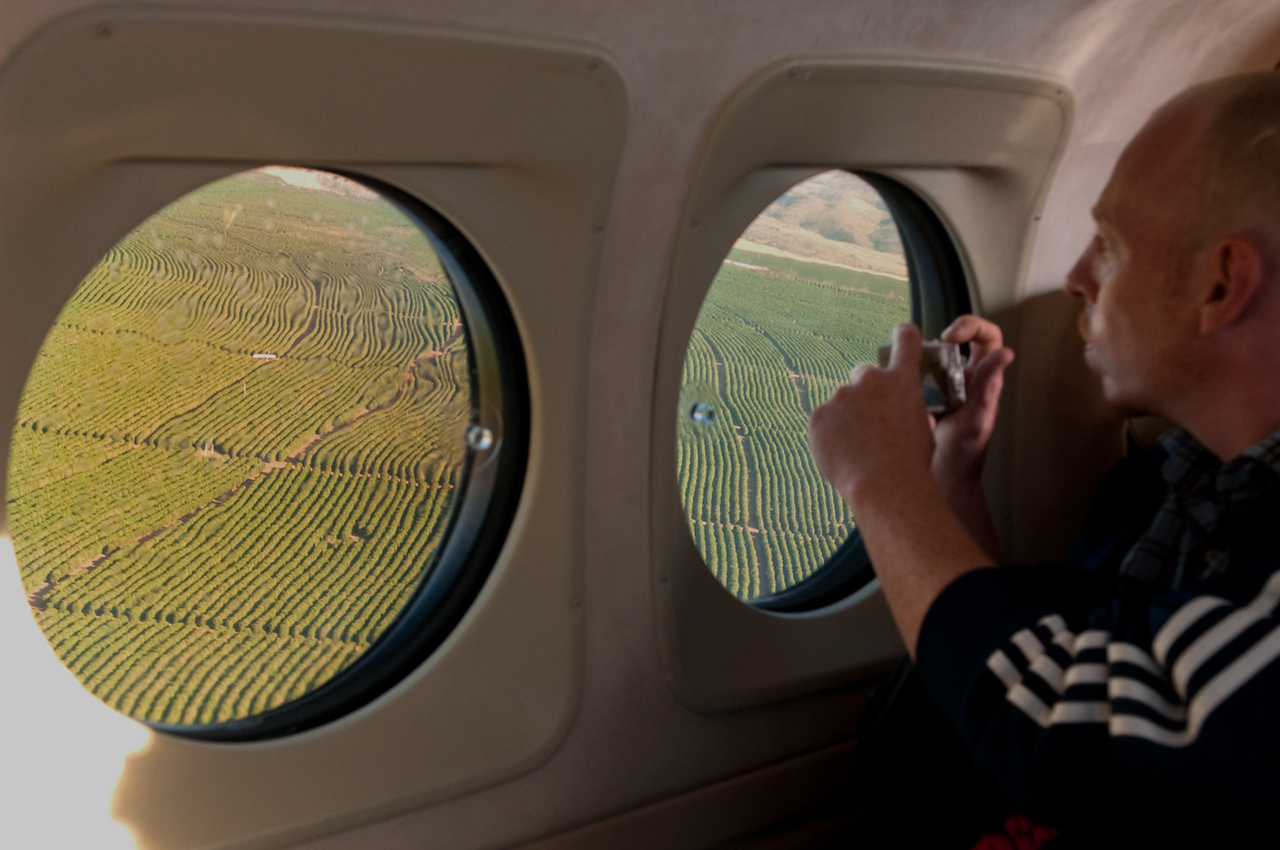 We later flew to Daterra Farm in the heart of the Cerrado region of Minas Gerais.  Mads Hogsted, of Estate Coffee in Copenhagen, shoots some great views of the farm as we land.