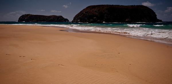 Vanishing footsteps on Praia de Leao, Fernando de Noronha, Brazil