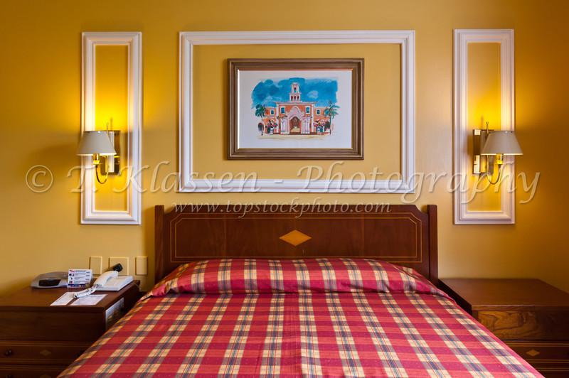 The hotel room furnishing at the Tropical Das Cataratas near Iguazu Falls, Brazil, South America.
