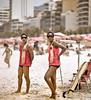 Two Lifeguards, Ipanema Beach, Rio de Janeiro, Brazil