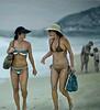 Women in Hats, Ipanema Beach, Rio de Janeiro, Brazil