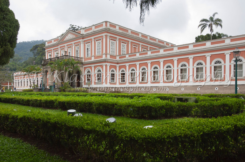 The Imperial Museum exterior in Petropolis, Brazil, South America.