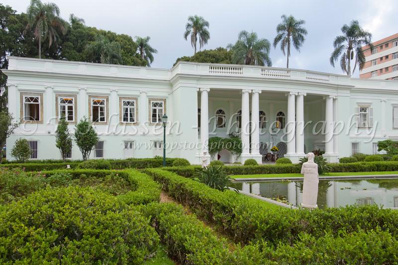 The historic Solar do Imperio 1875 hotel interior in Petropolis, Brazil, South America.