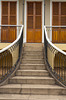 A stairway with colonial architecture in the buildings of Petropolis, Brazil, South America.