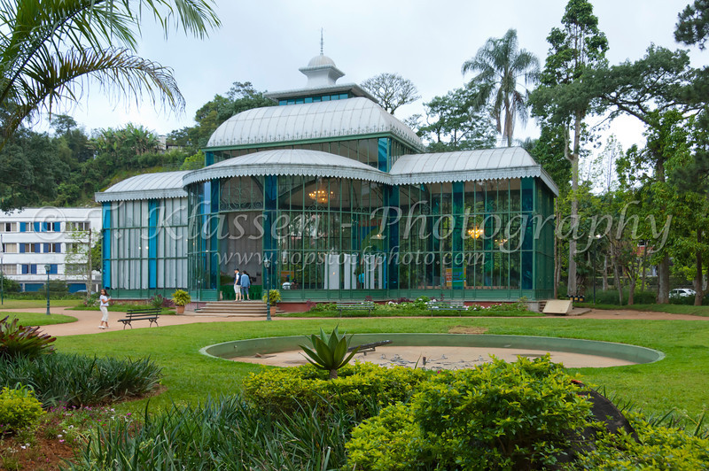 Orquidário the Crystal Palace of the ancient imperial city of Petropolis in Rio de Janeiro state in Brazil, SAouth America.