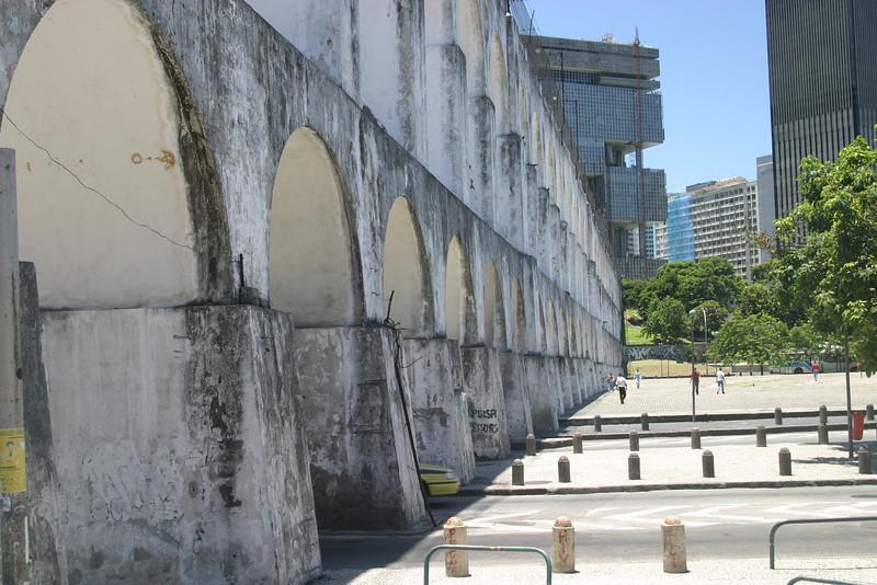 Carioca Aqueduct, built in the first half of the 18th century Rio de Janeiro scenes