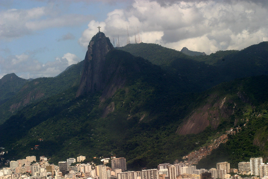 Views from Sugar Loaf Mountain of the Corcovado. Rio de Janeiro scenes