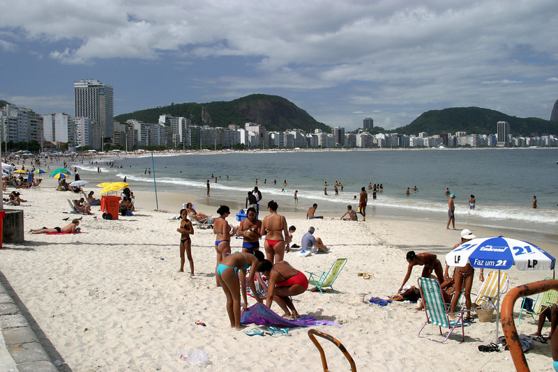 Copacabana Beach Rio de Janeiro scenes