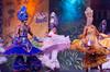 Colorful Samba dancers perform at a Samba Show in Rio de Janeiro, Brazil.