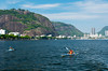 Kayakers in Guanabara Bay in Rio de Janeiro, Brazil.