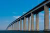 The 14 Km Neteroi Bridge over Guanabara Bay in Rio de Janeiro, Brazil.