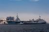 Brazilian navy ships at the Naval Dockyards in Rio de Janeiro, Brazil.