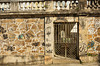 Graffiti and historic colonial architecture in the Santa Teresa district of Rio de Janeiro, Brazil.