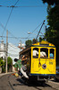 The Bond tram or streetcar travels between the Santa Teresa district and downtown Rio de Janeiro, Brazil.