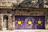 Graffiti and historic colonial architecture in the Santa Teresa district of Rio de Janeiro, Brazil.