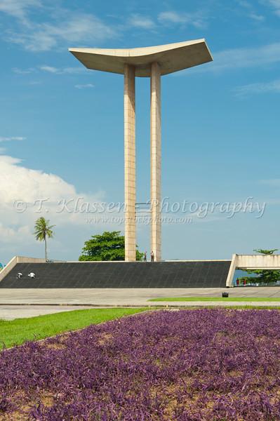 The War Memorial commemorating Brazil's involvement in World War 2 near the Gloria Pier in Rio De Janeiro, Brazil.