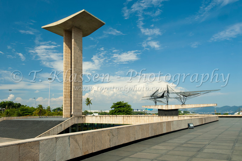 The War Memorial commemorating Brazil's involvement in World War 2 near the Gloria Pier in Rio De Janeiro, Brazil.