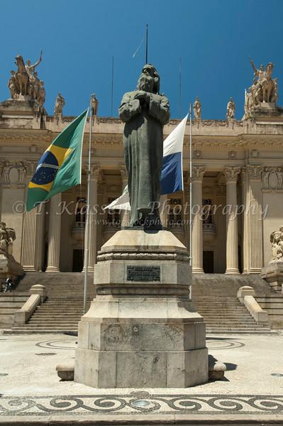 The Tradentes Palace in downtown Rio de Janeiro, Brazil.