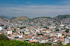 The favellas, shanty towns and slums on the hillsides surround the Nossa Senhora da Penha de Franca church in Rio De Janeiro, Brazil.
