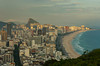 Views of the Leblon and Ipanema beaches in Rio de Janeiro, Brazil.