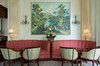 Interior decor of the reception area at the Copacabana Palace Hotel in Rio de Janiero, Brazil.
