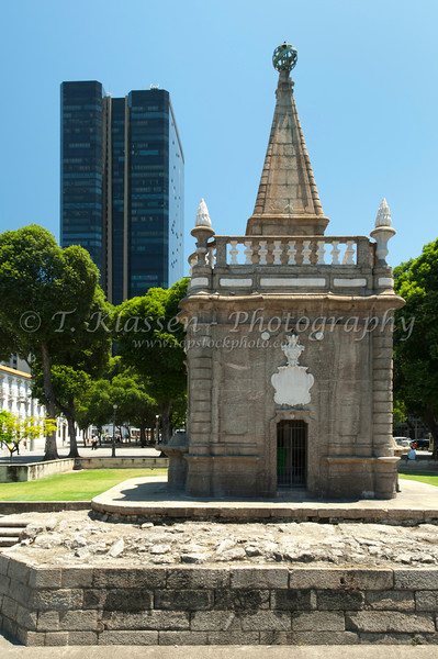 The pump house of the former aqueduct water system in downtown Rio De Janeiro, Brazil.