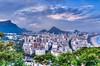 Views of the Leblon and Ipanema beaches in Rio de Janeiro, Brazil.