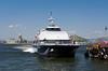 The ferry Jumbo Cat docking in downtown Rio de Janeiro, Brazil.