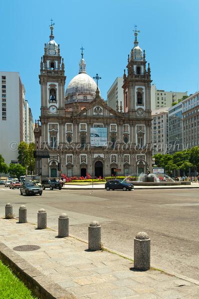The Candeleria Cathedral in downtown Rio de Janeiro, Brazil.