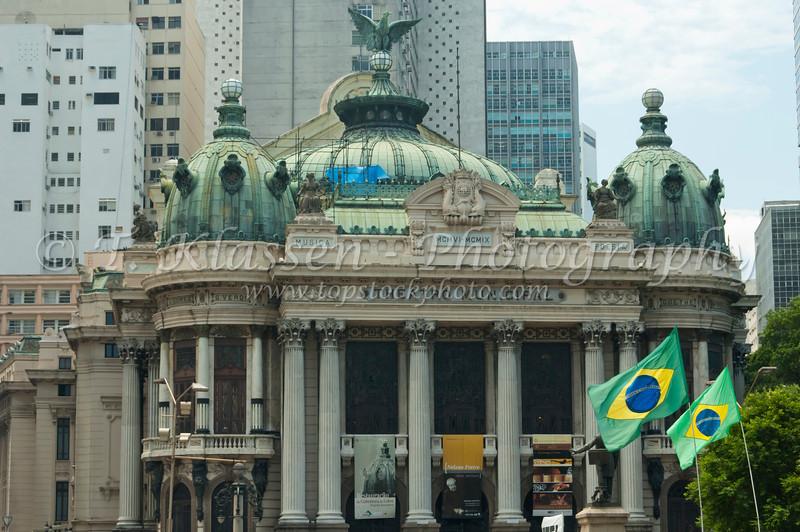 The Municipal Theater in downtown Rio de Janeiro, Brazil.