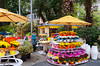 A colorful outdoor flower shop in downtown Rio De Janeiro, Brazil.