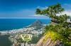 Views of Leblon, the Jockey Club race track and the Rio De Janeiro skyline from Corcovado, Brazil.