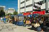 Street vendor shops in downtown Rio de Janeiro, Brazil.