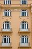 Window balcony architecture in downtown Rio de Janeiro, Brazil.