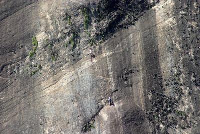 two rock climbers, Sugar Loaf Mountain