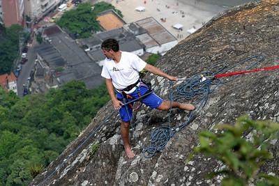 Rock climber on Sugar Loaf.
