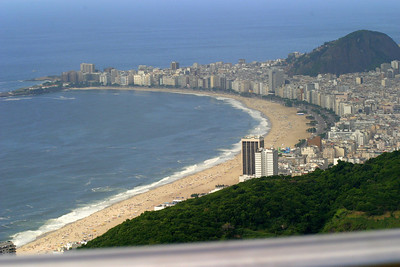 Views from Sugar Loaf Mountain, Copacabana Beach