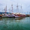 Ships in the bay of Paraty