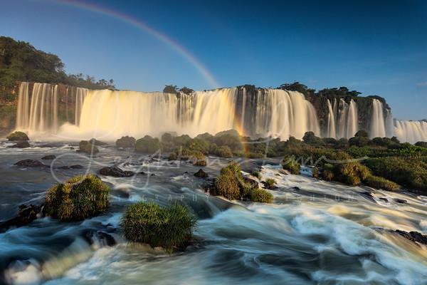 Rainbow over Iguazu Falls